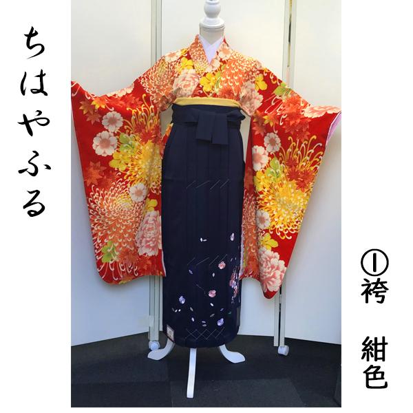 ちはやふる×Japanstyle|ちはやふる・和菊柄振袖&紺地袴|100-162
