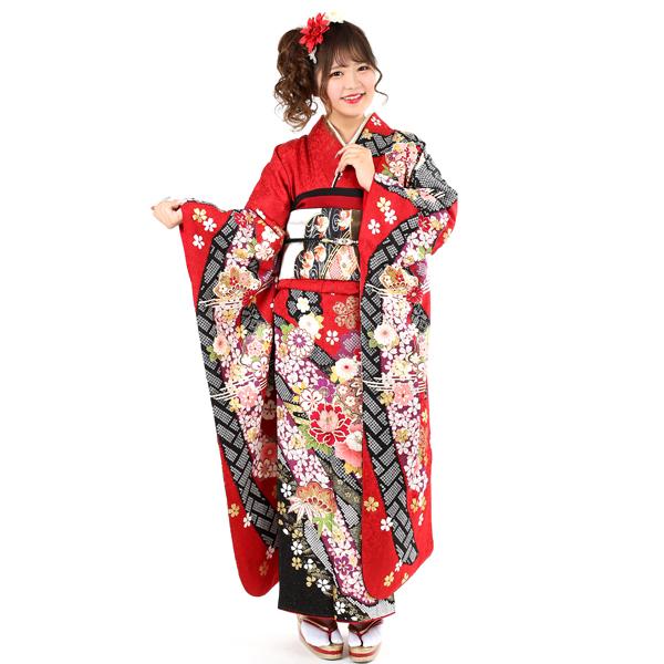振袖|AKB48赤地金通しN0.800-37