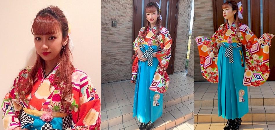 袴レンタル|中村理沙|モデルさんのようなチャーミングなお嬢さん|No.100-128